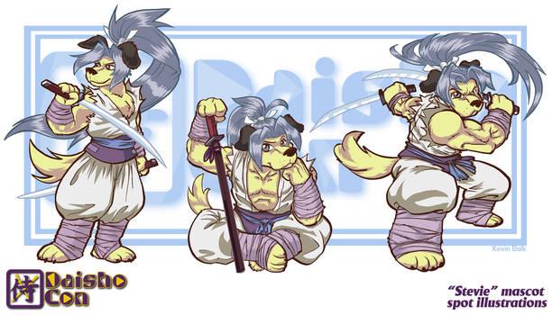 Daishocon Mascot ''Stevie'' Spot Illustrations