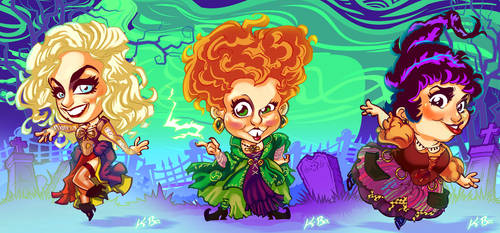 Halloween Hotties HOCUS POCUS Sanderson Sisters by kevinbolk
