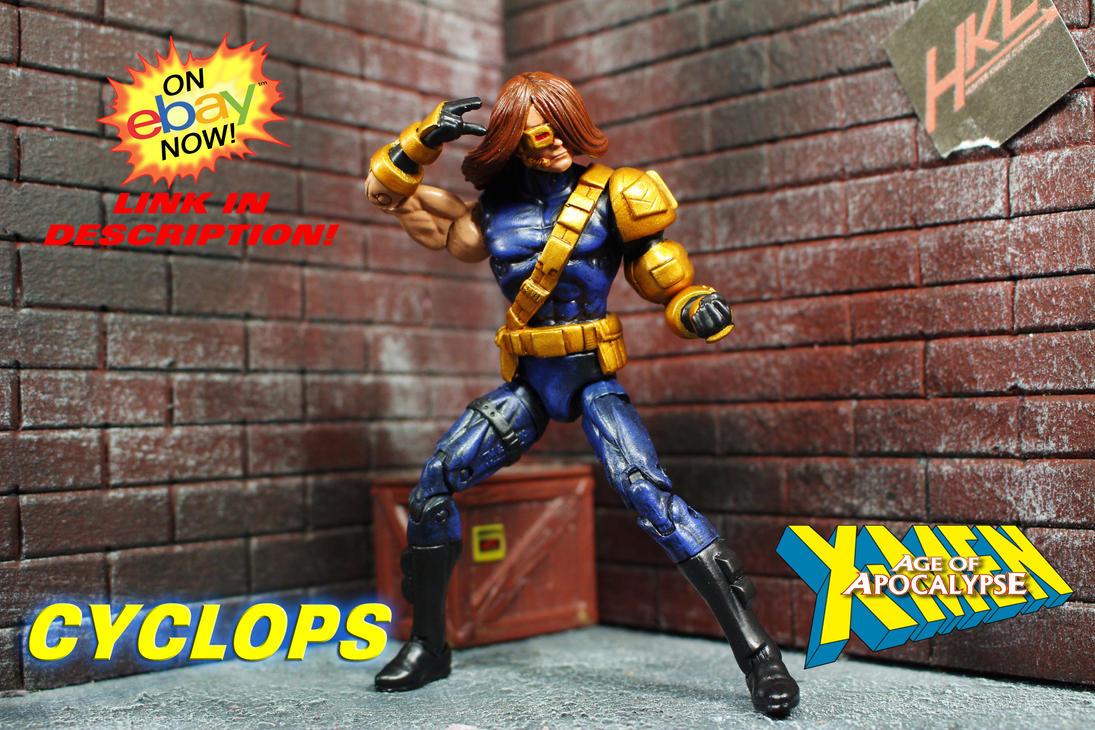 Custom Age of Apocalypse CYCLOPS Marvel Universe by hunterknightcustoms