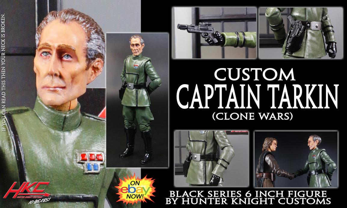 Custom Captain Tarkin (Clone Wars Black series) by hunterknightcustoms