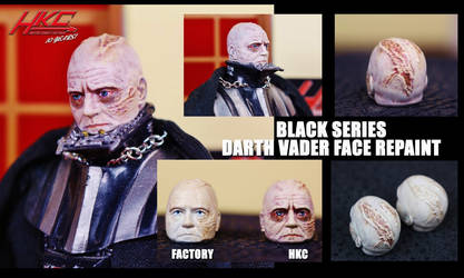 Black series 6in DARTH VADER  face repaint  by HKC by hunterknightcustoms
