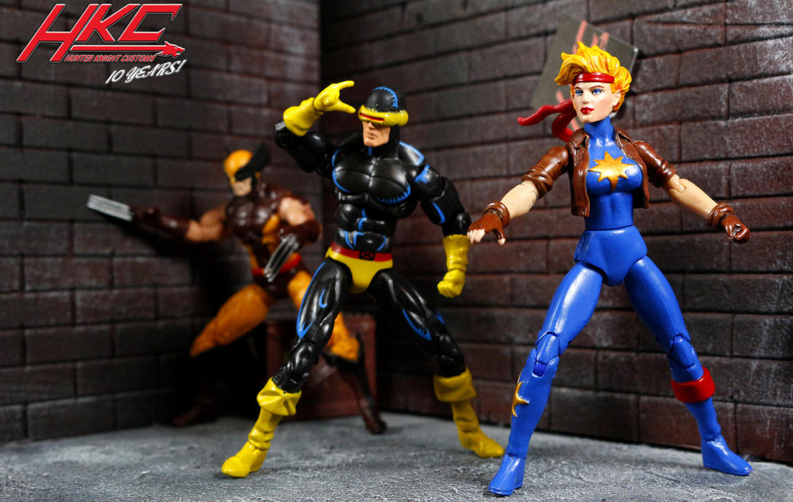 Dazzler, Cyclops and Wolverine by hunterknightcustoms