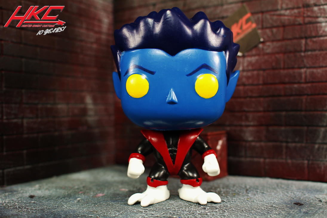 Custom Funko Pop Nightcrawler Figure HKC by hunterknightcustoms