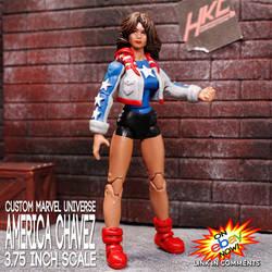 America Chavez Marvel universe 3.75 figure
