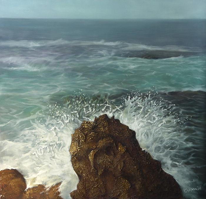 Rock in the Mediterranean Sea by selma-todorova