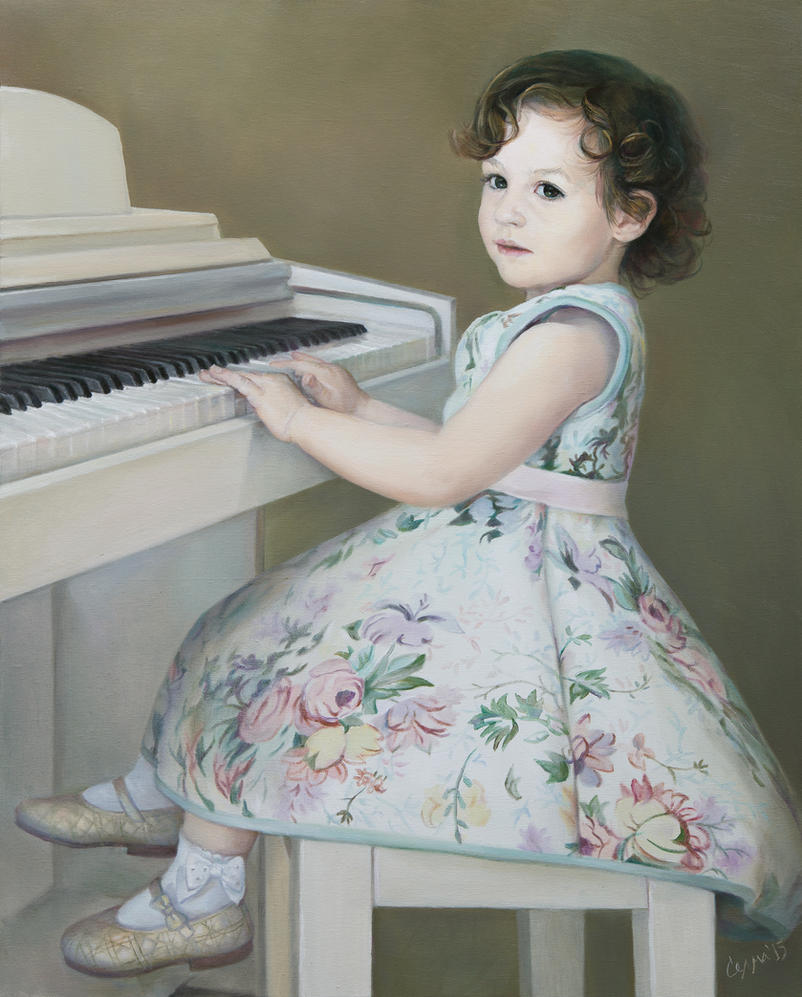 The Young Piano Player by selma-todorova