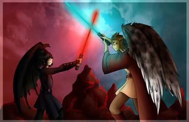 COMMISSION: Marven vs. Neebs Star Wars Style by DaniCojo