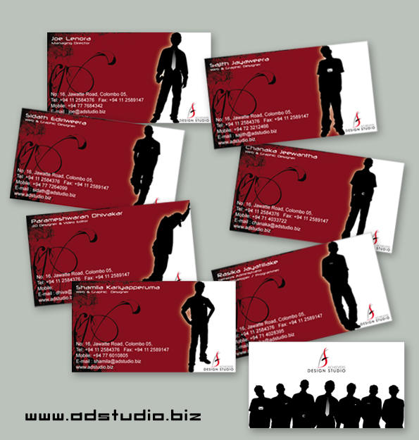 Achievers design studio cards by sidath