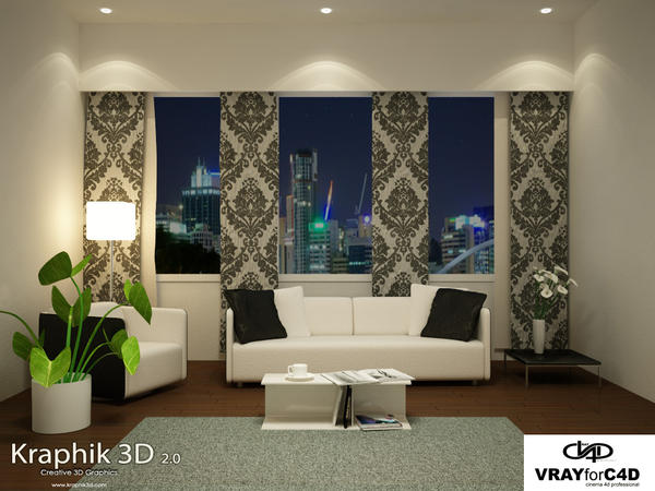 Urban living room cinema 4d by kraphik on deviantart for Living room cinema 4d