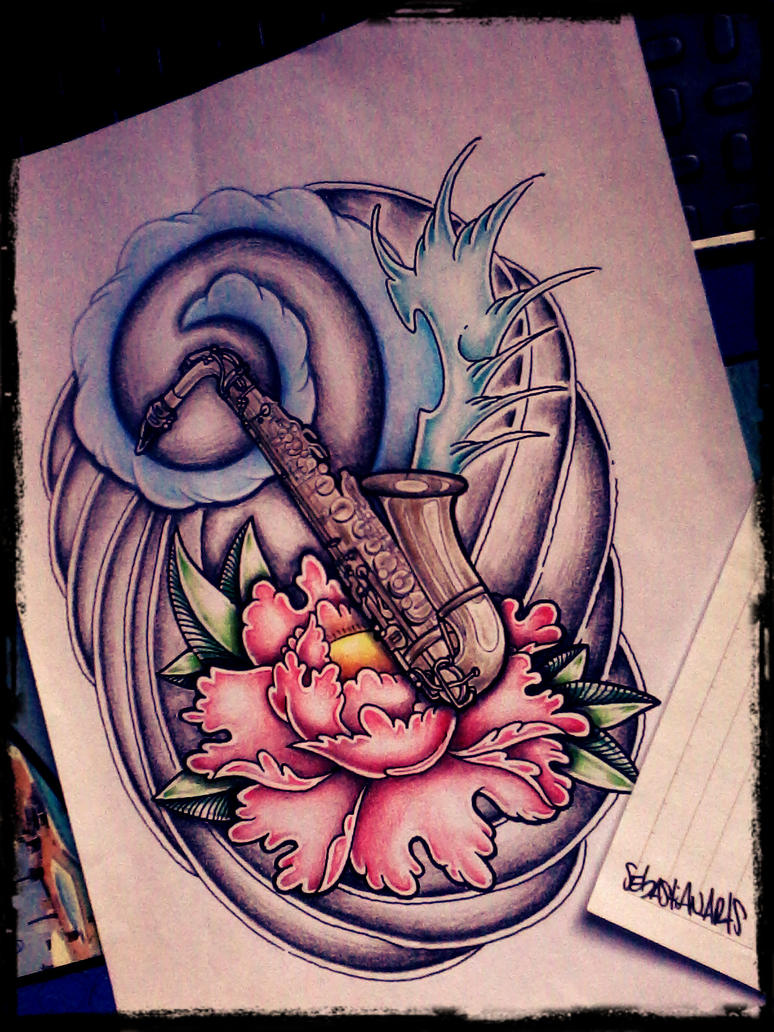 Sax Tattoo Designs