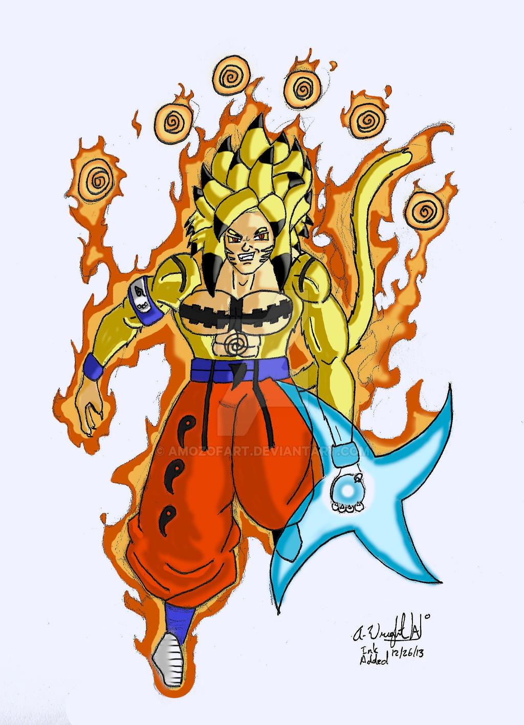 Popular Wallpaper Naruto Dbz - goku___naruto_remake_by_amozofart-d6znguz  2018_355865.jpg