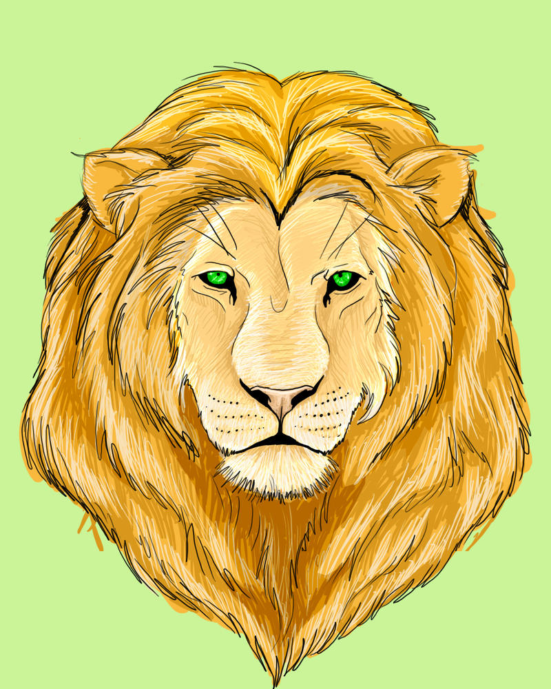 Lion Face by infamy on