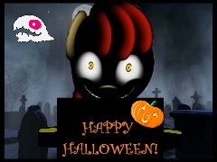 Creepybloom Celebrates Halloween by Zanbamon