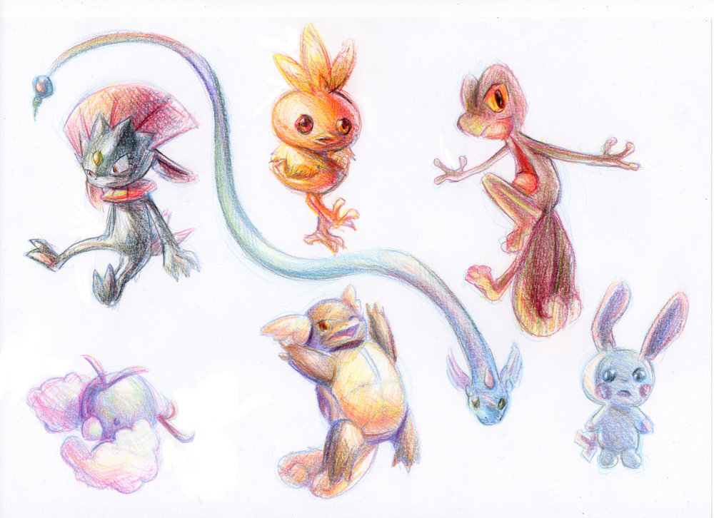 Pokemon pencil sketches by CrystalCeo on DeviantArt