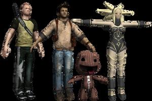 Playstation All-Stars Island - Main Characters by o0DemonBoy0o