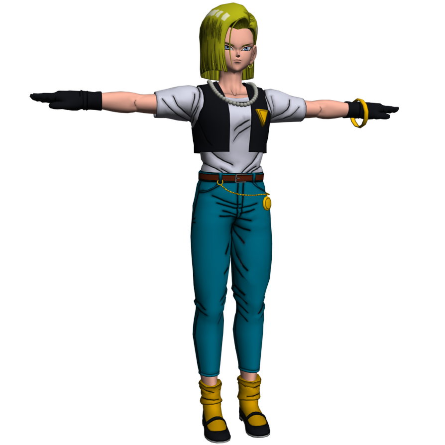 DragonBall XV - Android 18 Vest and Pants Mod by o0DemonBoy0o