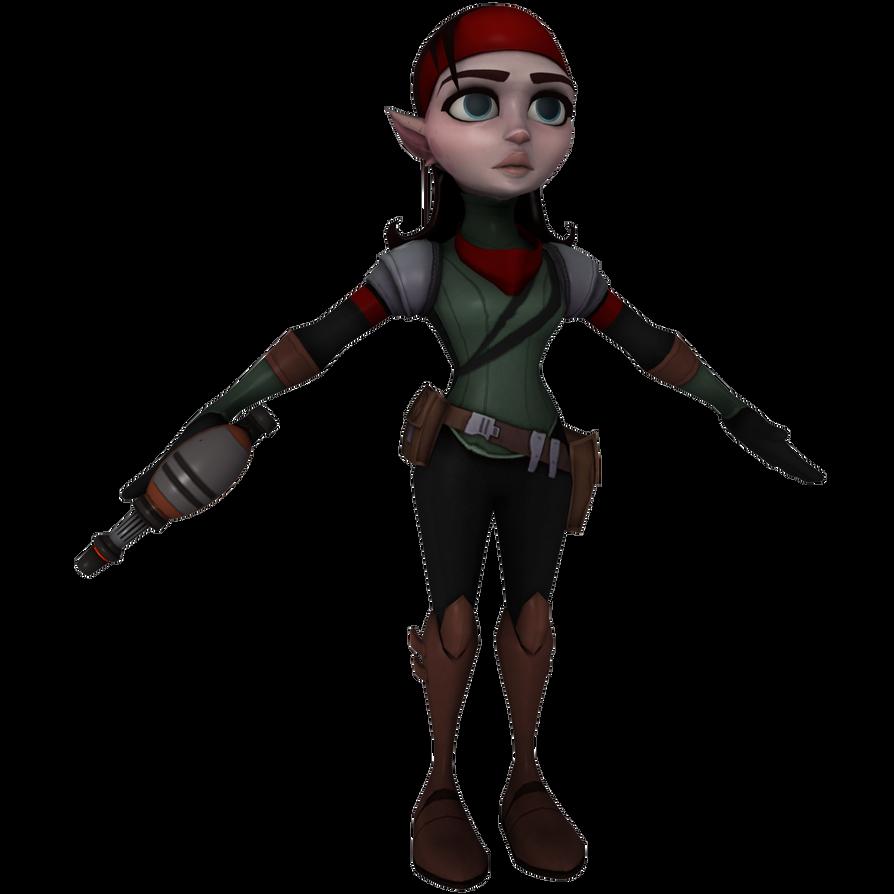 Ratchet and Clank: ToD - Talwyn by o0DemonBoy0o