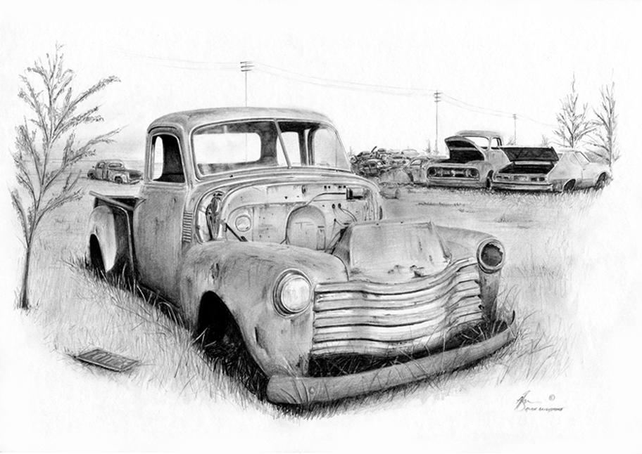 Chevy stepside junkyard by Boss429 on DeviantArt