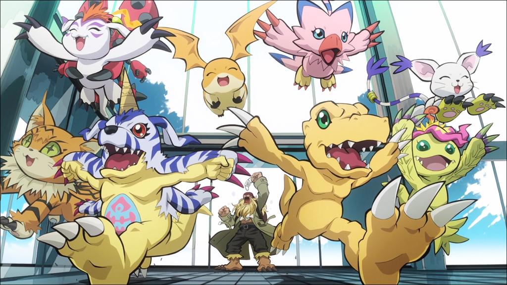 Pikachu and Gomamon Digimon- Pokemon at