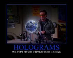 Holograms Motivational Poster by QuantumInnovator