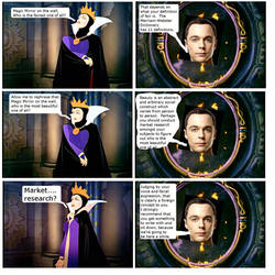 Sheldon Cooper in the Magic Mirror by QuantumInnovator