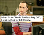 Sheldon Cooper on Ferris Bueller's Day Off by QuantumInnovator