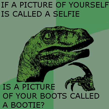 Philosoraptor on selfies by QuantumInnovator
