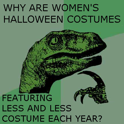 Philosoraptor on women's halloween costumes by QuantumInnovator