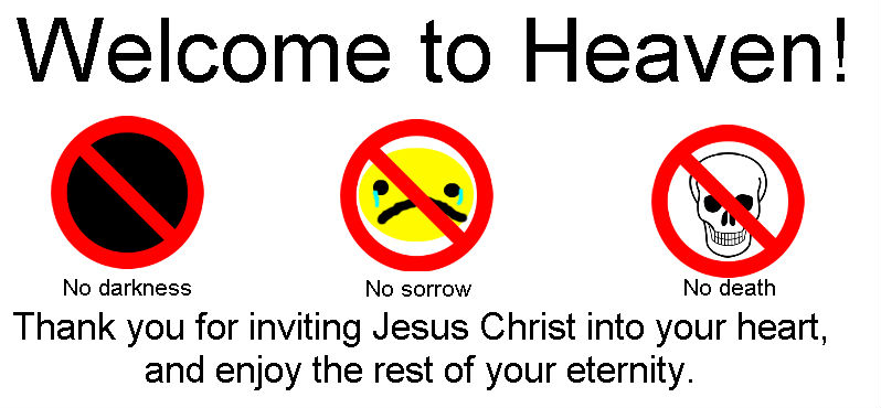 Welcome to Heaven sign by QuantumInnovator