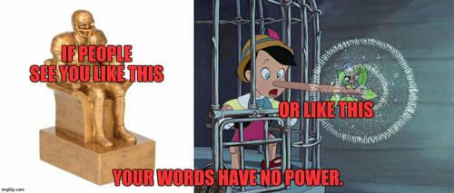 When Words Have Zero Power