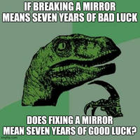 Philosoraptor on mirrors