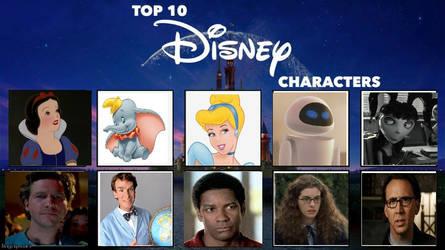 My Top 10 Disney Characters