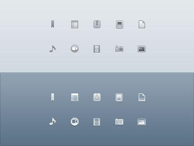 Drops Monochrome Icons