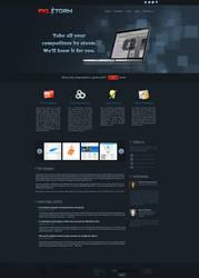 PXLSTORM site design by jovargaylan