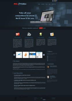 PXLSTORM site design