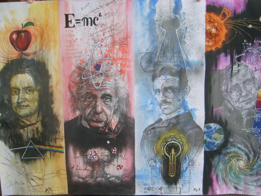 Resultado de imagem para Newton Galileu Einstein