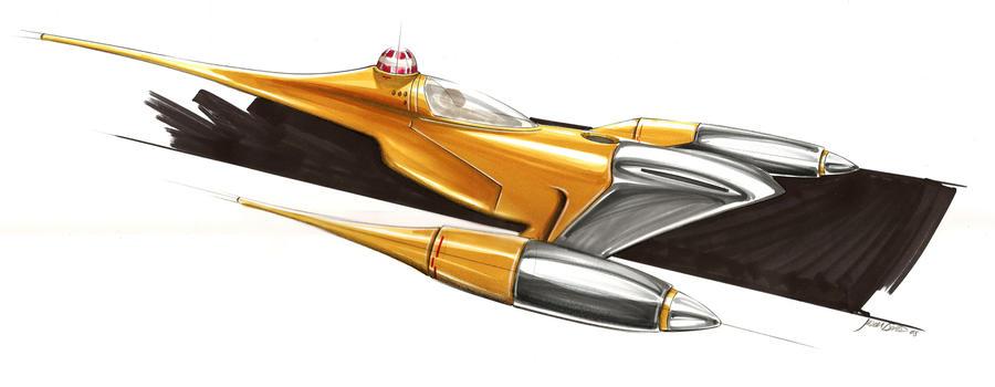 Naboo Starfighter - Star Wars by jayskidesign