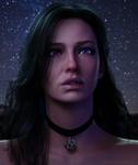Lavish Lunar-Lit Lady