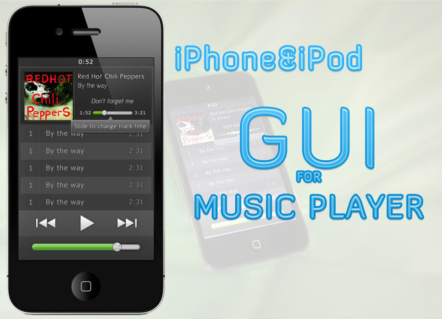 music player for iphone player gui for iphone or ipod by kozanecki on deviantart 15724