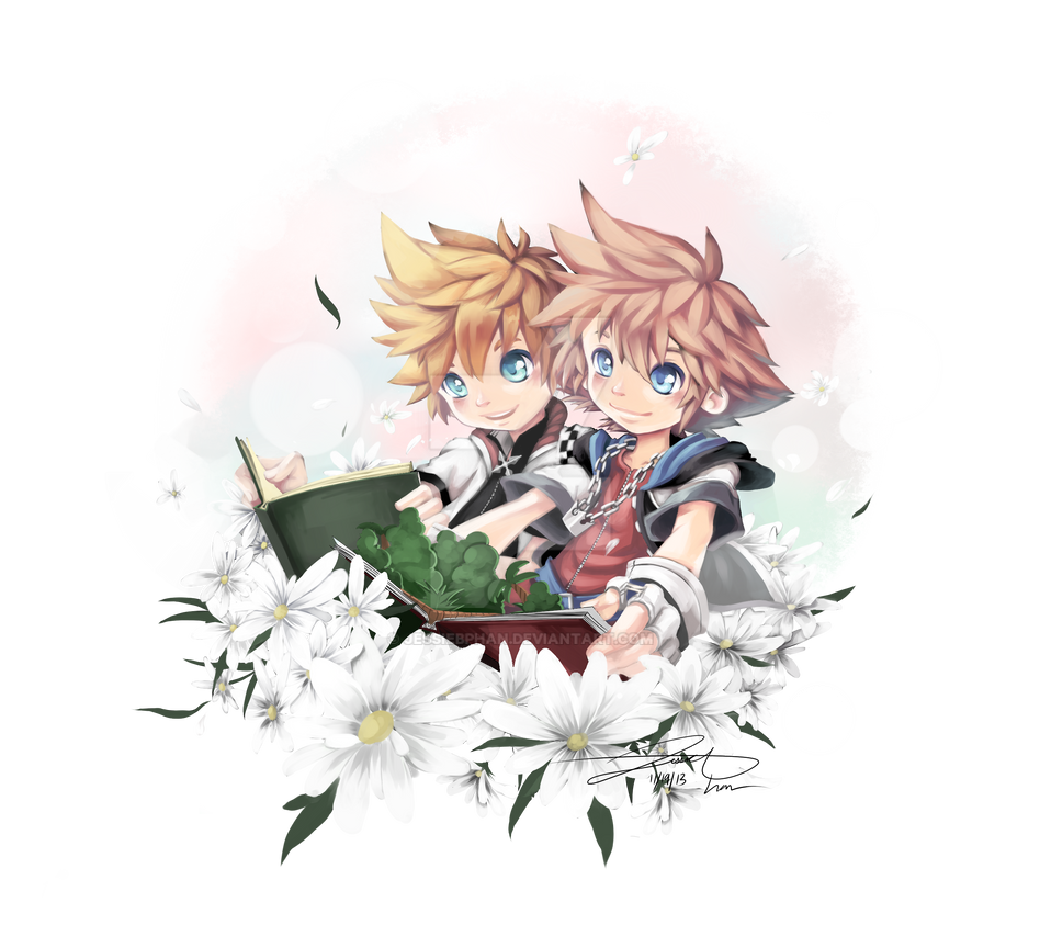 Sora and Roxas by otakusuzuka