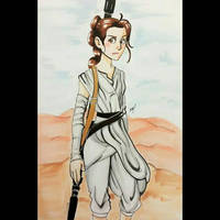 Rey from Star Wars: Force Awakens by Cloven666Hoof