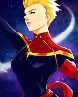Captain Marvel by KhallidJoseph