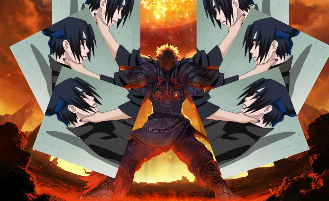 Choking Sasuke X 6 (Feat. Asura) by EpicLinkSam on DeviantArt