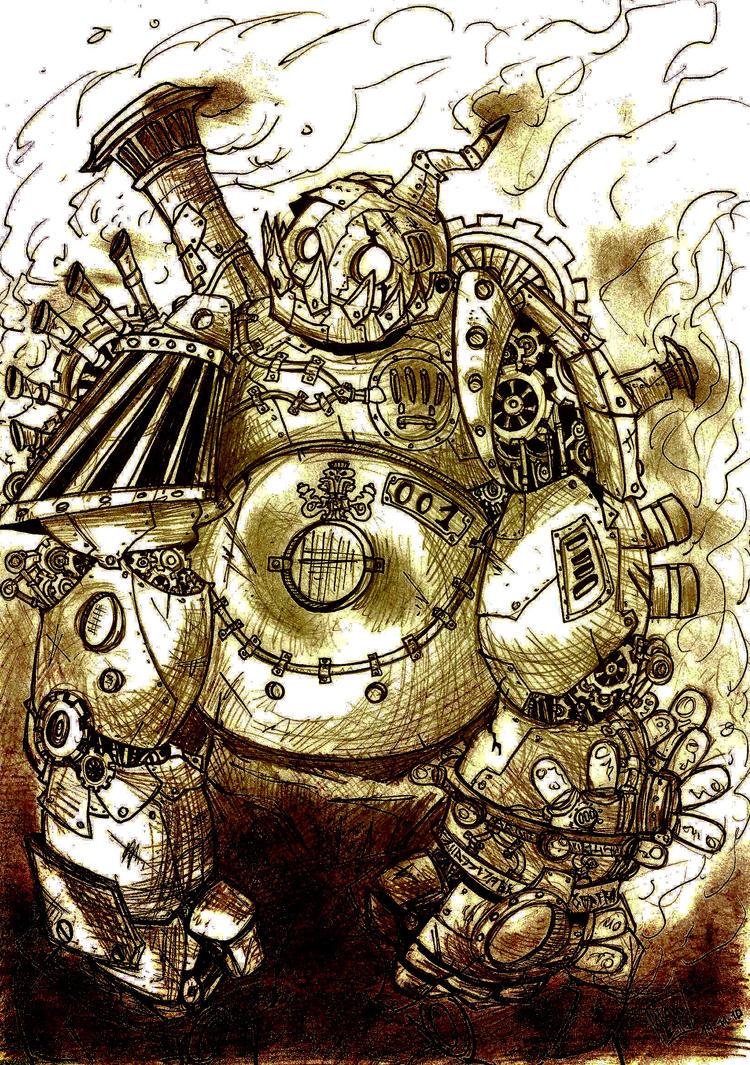 SteamPunk Golem by Viejuno