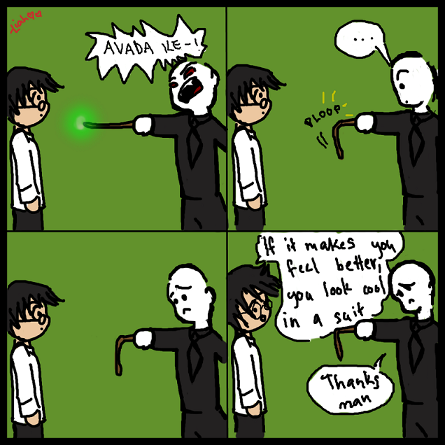 Harry vs. Voldermort -ploop- by twilinympho