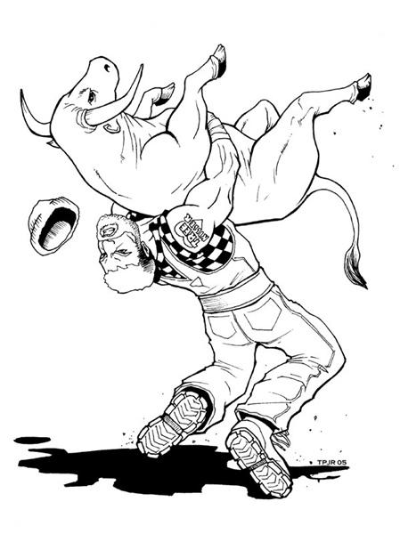 Maddox 'Bull Wrestling' by TPollockJR