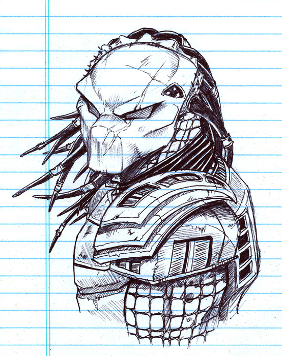 how to draw predator easy