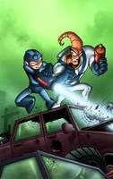 MegaMan vs Earthworm Jim by TPollockJR
