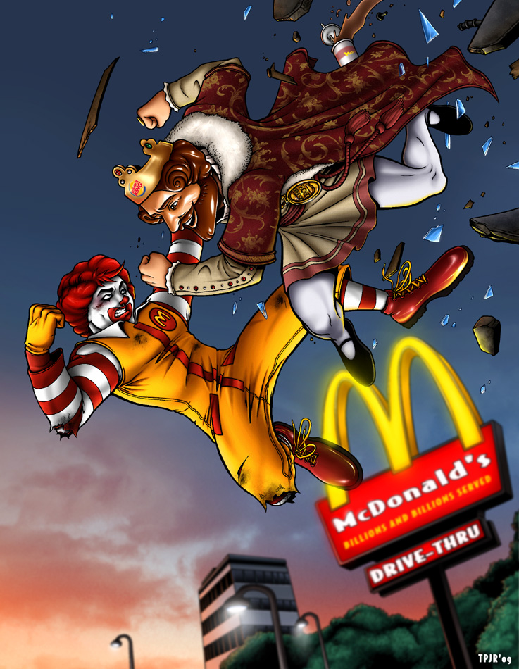 Wendy Vs Ronald Fast Food Fight