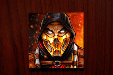 Scorpion MK11 Style on a Post-It Note